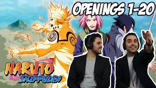 NARUTO SHIPPUDEN All Openings 1-20 REACTION