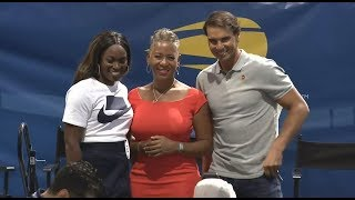 Rafael Nadal and Sloane Stephens at the Draw Ceremony at US Open 2018