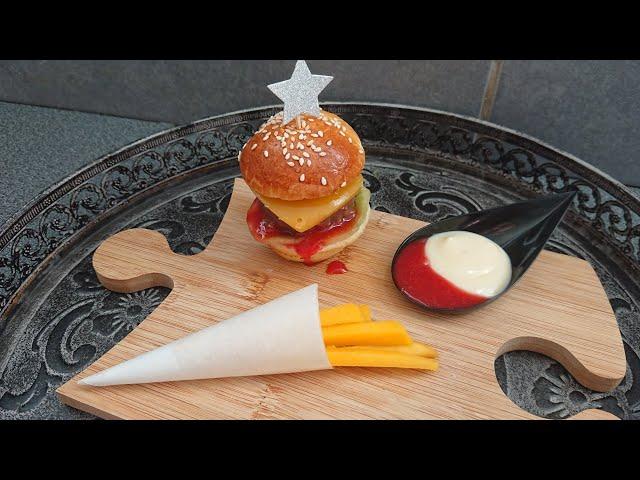 Dessert en trompe l'œil de burger 🍟