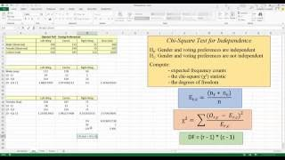 How To... Perform a Chi-Square Test for Independence in Excel