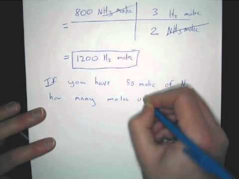 Mole to Mole Stoichiometry Problems: Examples and Explanation using chemical reactions