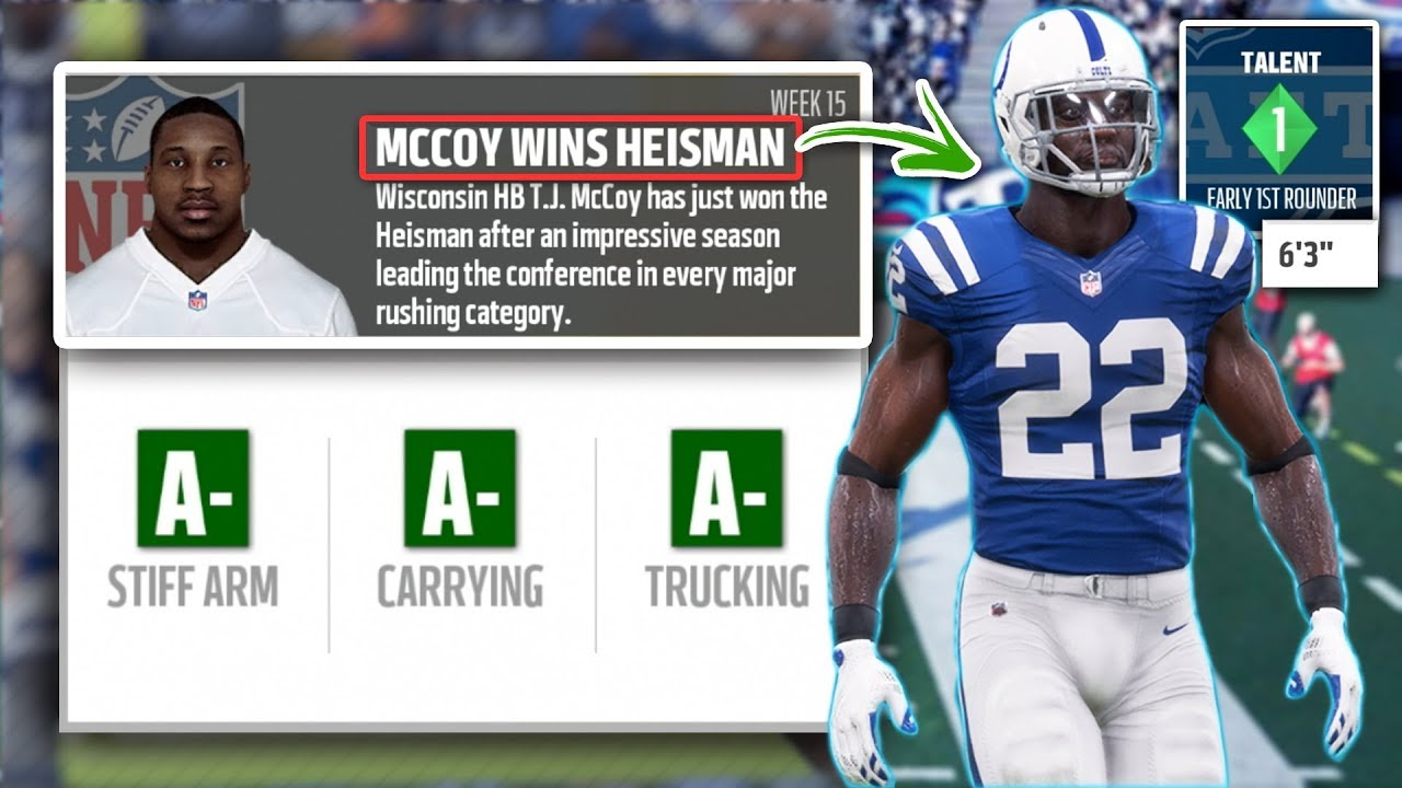 LEGENDARY RB PROSPECT WINS HEISMAN! Madden 18 Colts Connected Franchise Ep. 32 (S2)