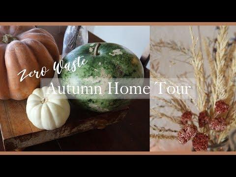 Zero Waste Fall Home Tour| Halloween DIY