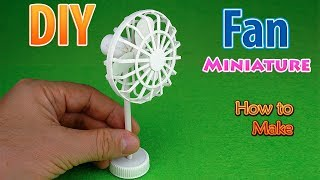DIY Realistic Miniature Floor Fan | DollHouse | No Polymer Clay!