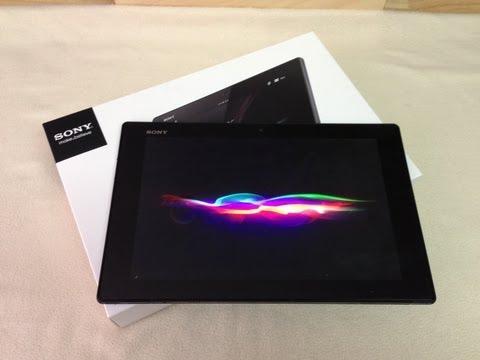 Unboxing tableta Sony Xperia Z Primeras impresiones