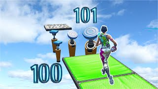 This INVISIBLE 101 Level Deathrun is for Bots? *Is This Easy?* (Fortnite Creative)