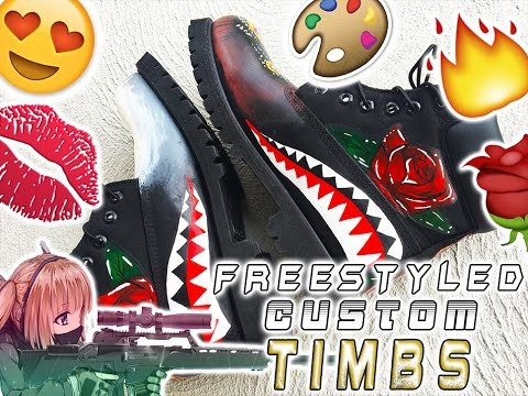 d3f8411585fe Freestyle custom timberland boots - YouTube
