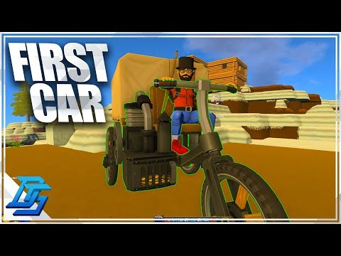 FIRST CAR, POWERED CART, THE GREAT WOOD ROBBERY! - ECO Global Survival - Pt.8