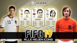 FIFA 19 FUT | Alle neuen ICONS analysiert! Ballack, Cruyff, Eusebio, Best, Figo, Rivaldo & mehr!