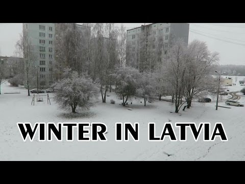 DECEMBER DAY IN LATVIA - SNOWY DAY TIME LAPSE - WINTER