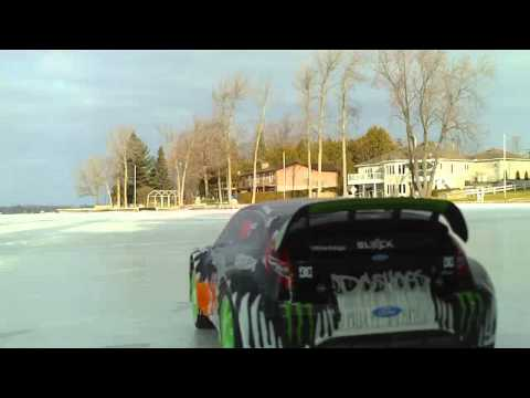 Traxxas Rally VXL- Ken Block Edition ON THE ICE!