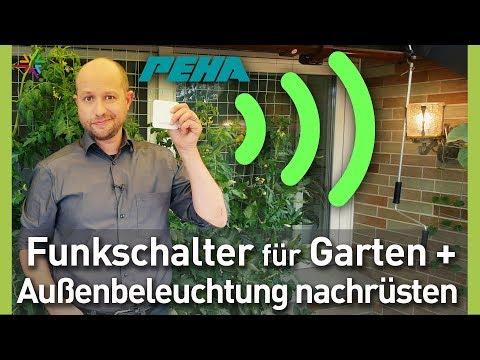 Funkschalter für Gartenbeleuchtung und Außenbeleuchtung nachrüsten - PEHA enocean EasyClick