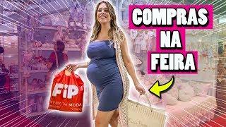 CHÁ DE BEBE EM TEMPO REAL + COMPRAS NA FEIRA | Amanda Domenico