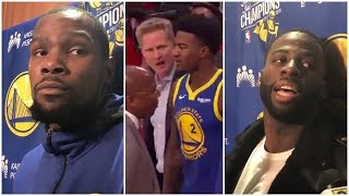 Steve Kerr on his argument with Jordan Bell, Kevin Durant & Draymond Green react to the incident