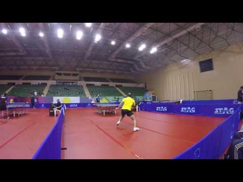 Oman Gas Company Table Tennis Tournament 2016_Mohamad Bannout (Lebanon) Vs Adnan Fwakhergy (Syria)