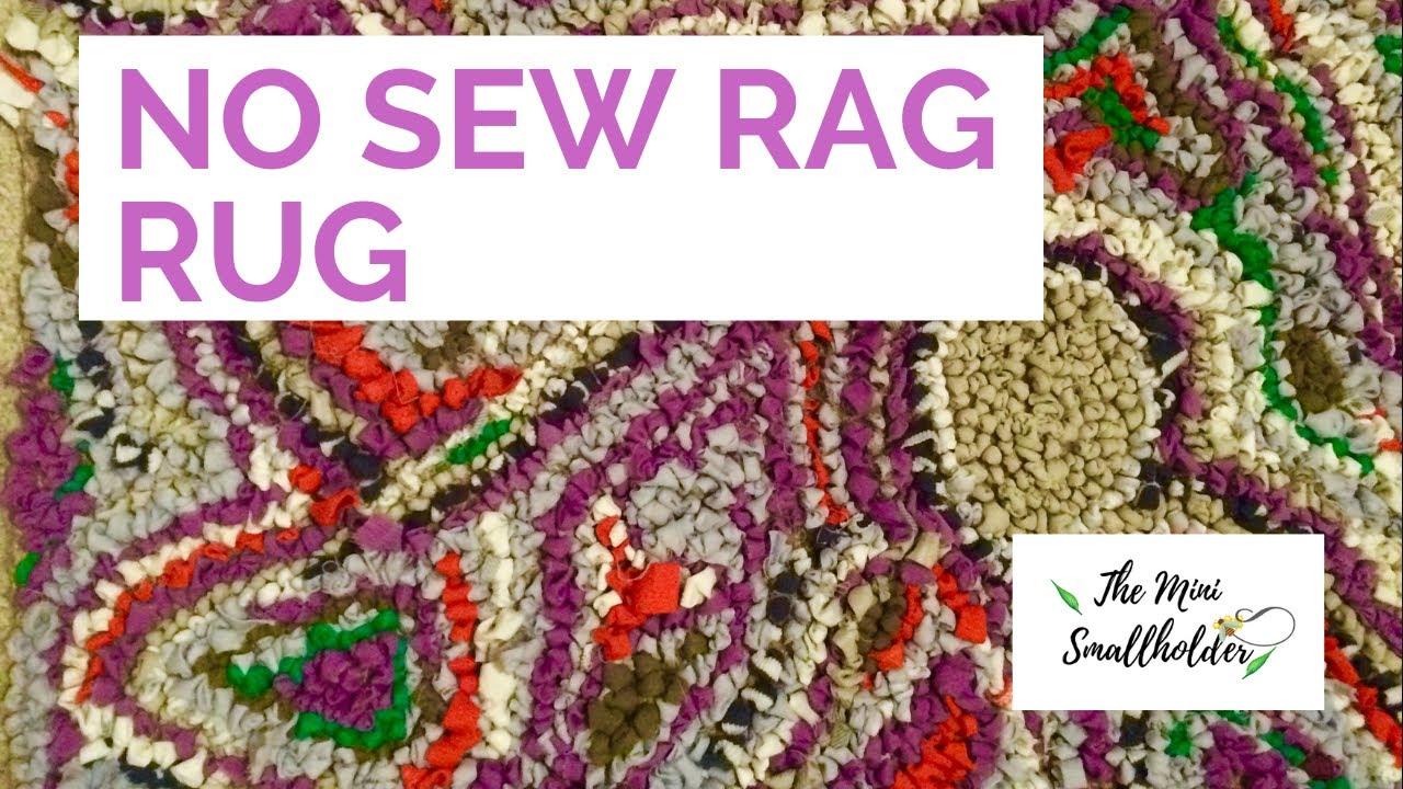 Rag Rug With A Hessian Sack