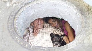 This Couple Has Been Happily Living In A Sewer For 22 Year And You Should See The Inside