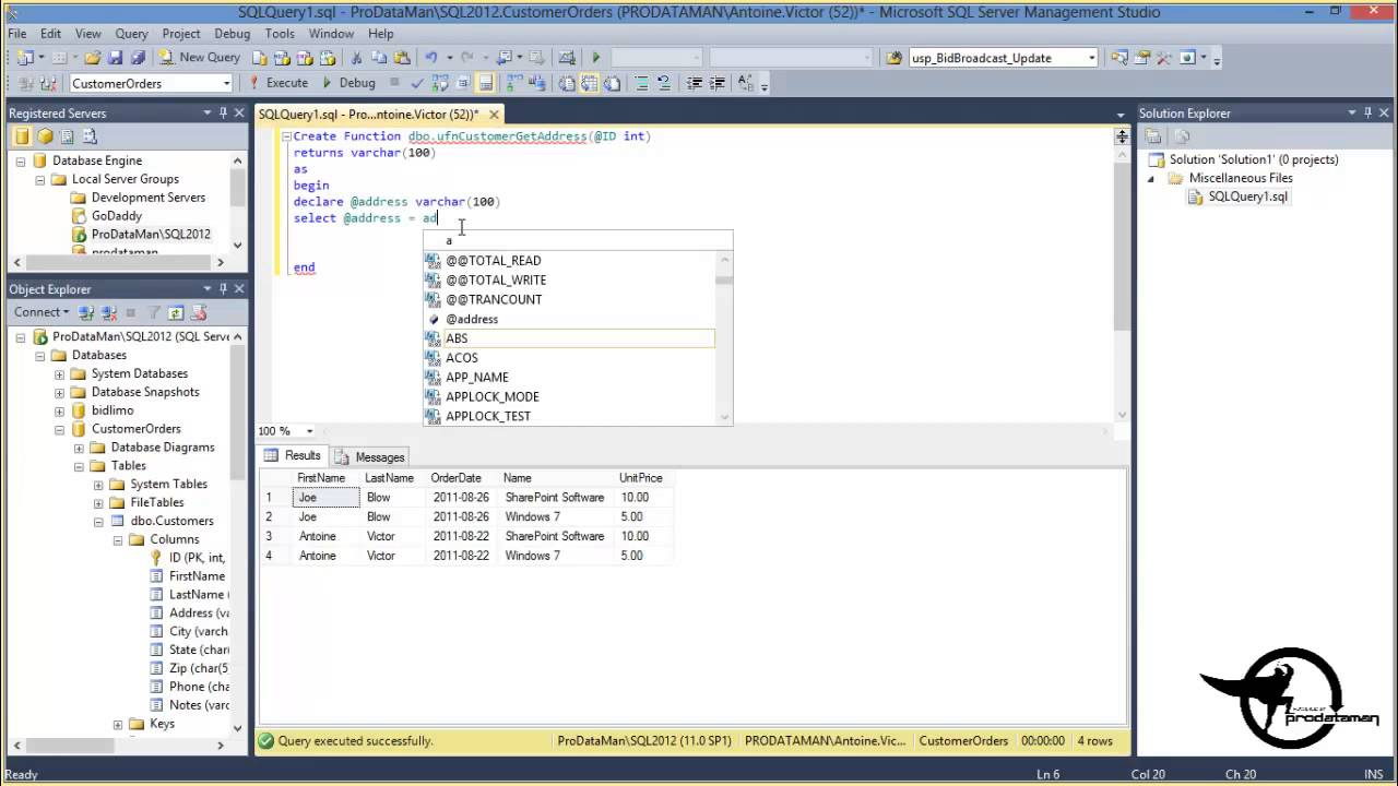 sql how to create function # 3