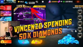 VINCENZO SPENDING 50K DIAMONDS ON LIVE!😍 HE BOUGHT THE WHOLE STORE!😱
