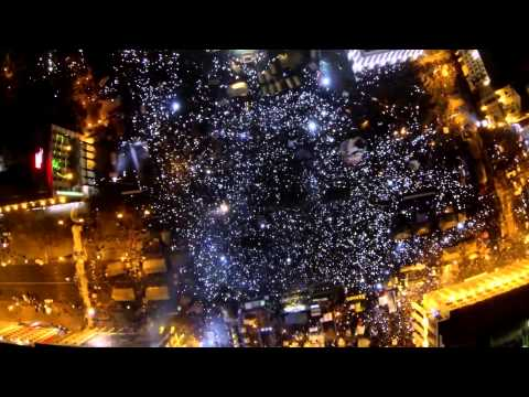 ЕвроМайдан с высоты птичьего полета.  Вечер 14 12 2013