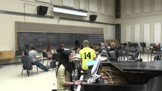 Amirah Ali performs with students at the NIU School of Music