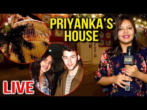 LIVE : Priyanka Chopra Nick Jonas Wedding Preparations | Priyanka House Visuals | EXCLUSIVE