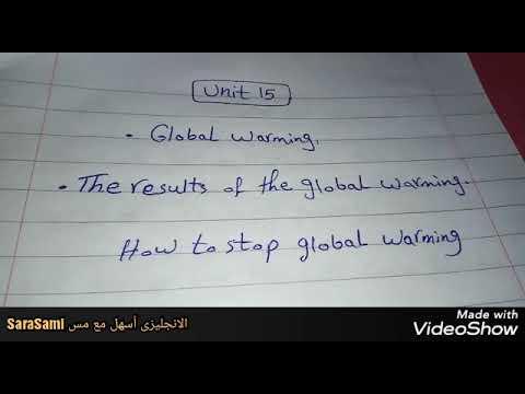 برجراف 90 كلمه عن الاحتباس الحراري للصف الثاني الاعدادي الترم الثانى Global Warming Youtube