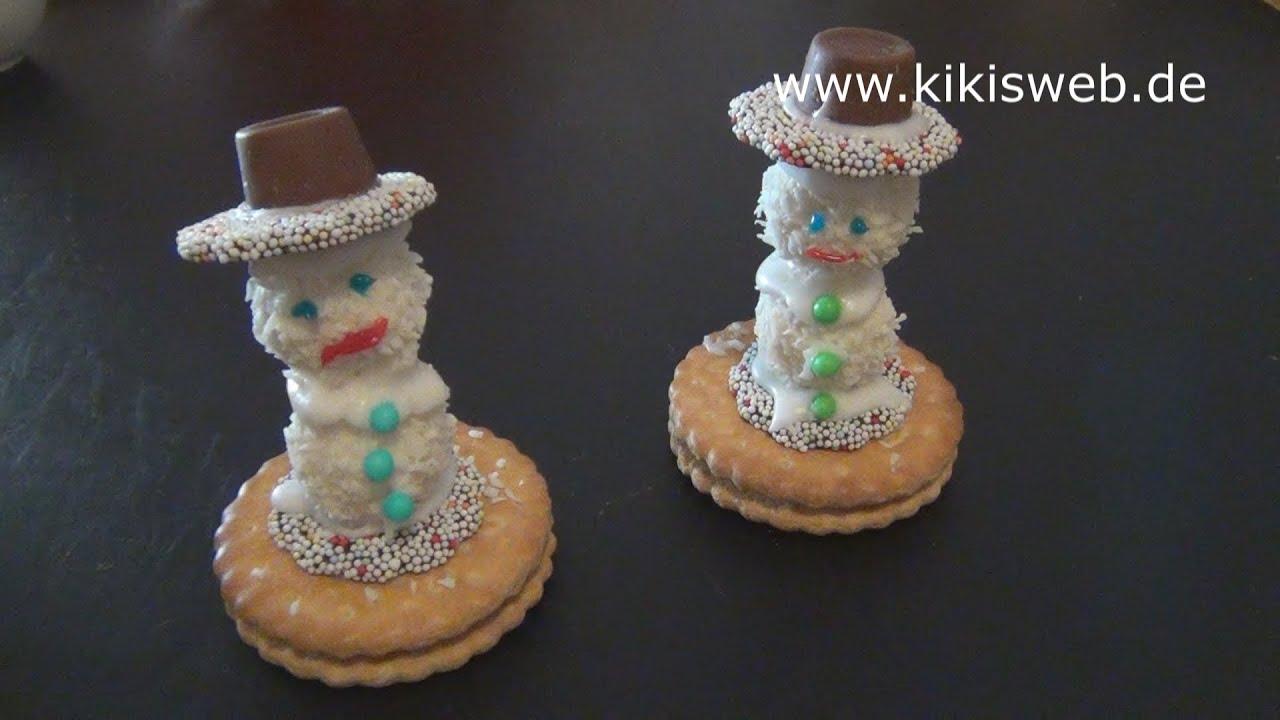 Schneemann Aus Süßigkeiten