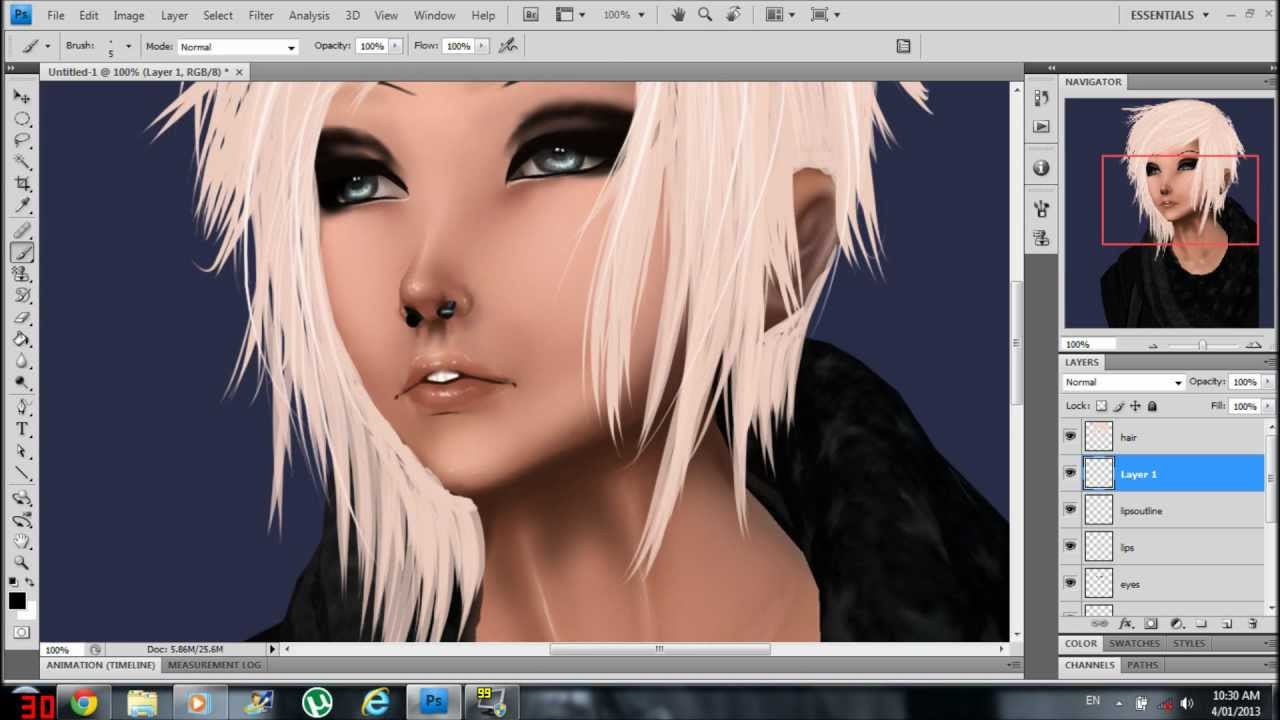 How I edit display pictures for IMVU (Photoshop Cs4) - YouTube