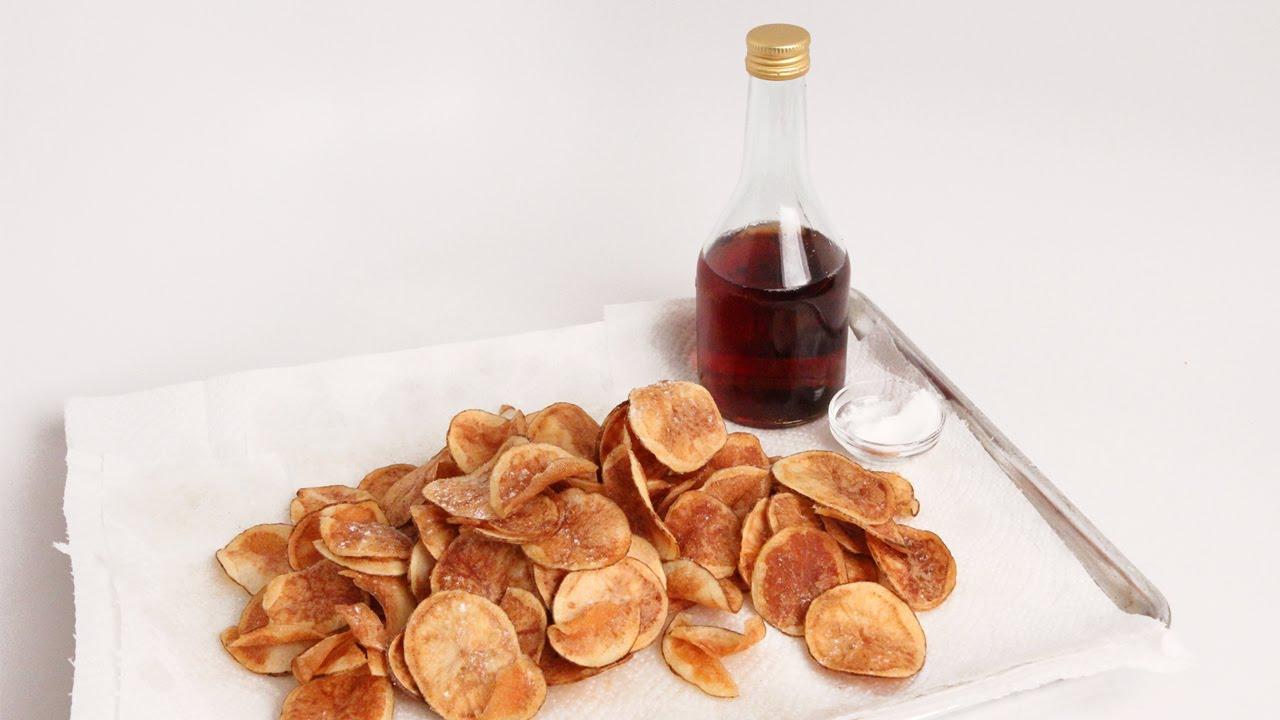 Homemade Salt & Vinegar Chips Recipe - Laura Vitale - Laura in the ...