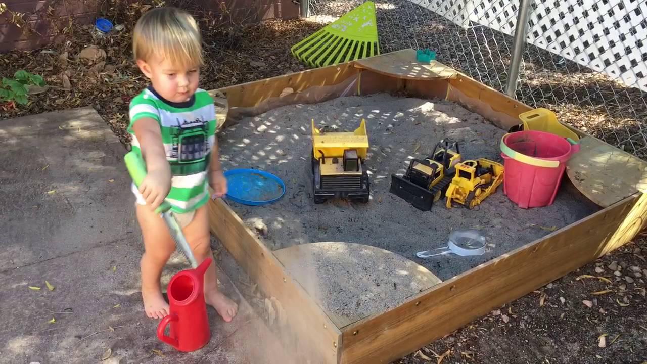 Kidkraft Backyard Sandbox   Having A Good Time!
