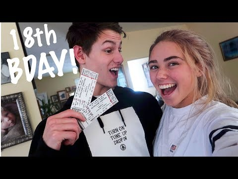 SURPRISING MY BOYFRIEND WITH POST MALONE TICKETS FOR HIS 18TH BDAY!!
