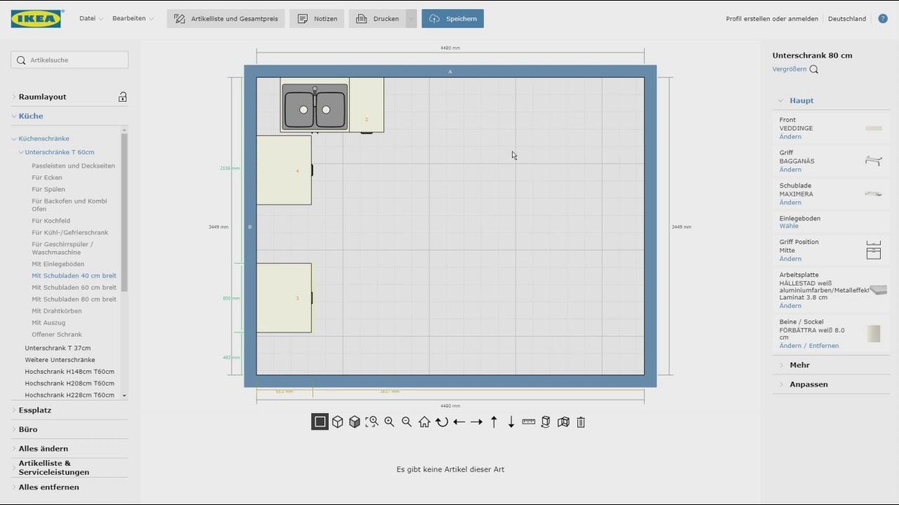 IKEA 3D Metod Küchenplaner - Ecklösungen