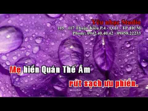 KARAOKE Nhạc Phật Mẹ Từ Bi Beat   tone nu   YouTube