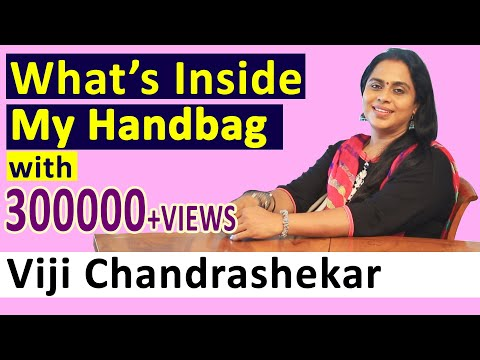 What's Inside My Hand Bag with Actress Viji Chandrashekar