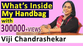 Whats  nside My Hand Bag with Kadaikutty Singam Actress Viji Chandrashekar