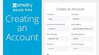 Xometry Quick Tips: Creating an Account