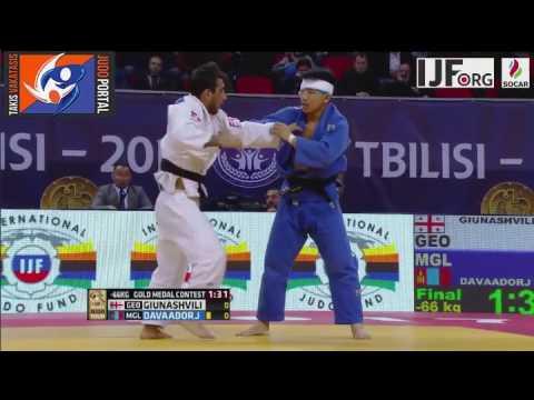 Judo Grand Prix Tbilisi 2017 Final -66kg GIUNASHVILI Lasha (GEO) vs. DAVAADORJ Tumurkhuleg (MGL)