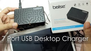 7 Port USB Charger for Tablets / Smartphones Review LC128 by Bolse