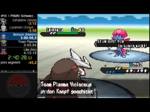 Pokémon Black 2 No X-Items Speedrun in 4:00 (IGT, Emulator, German Version)