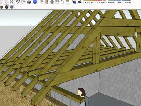 Roof structure summary youtube for House roof construction