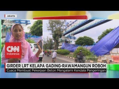 Girder LRT Kelapa Gading - Rawamangun Roboh
