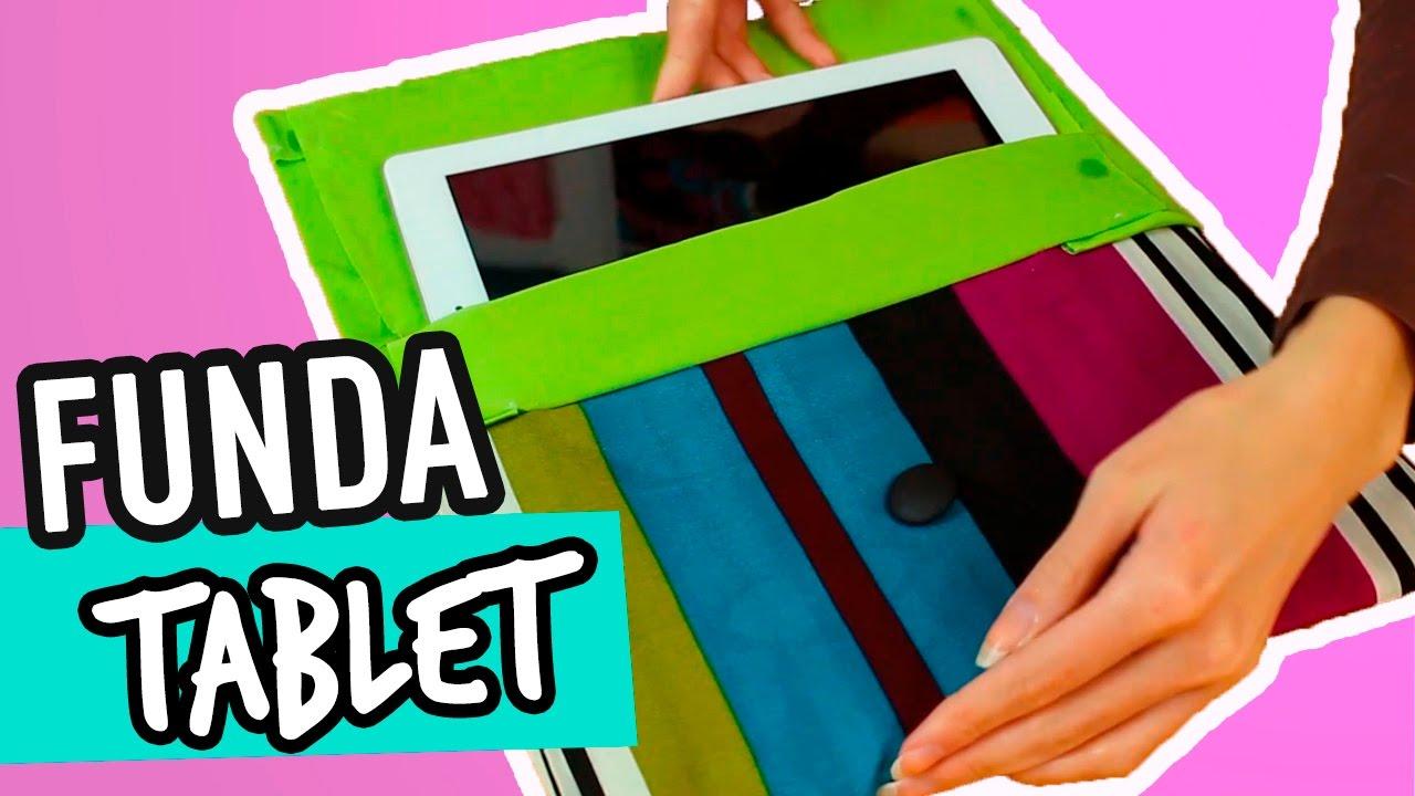 C mo hacer funda para tablet casera con tela sin coser - Como hacer fundas de silicon ...