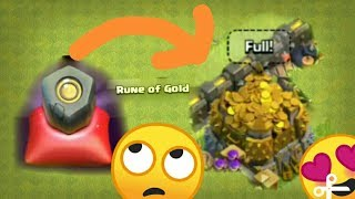 RUNE OF GOLD ,HOW TO USE RUNE OF GOLD?. WHAT HAPPENS IF YOU USE RUNE OF GOLD? IN CLASH OF CLANS.