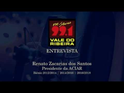 99 FM Vale do Ribeira entrevista Renato Zacarias dos Santos - Presidente da ACIAR