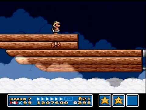 Super Mario Bros  3 SNES: World 7-Ludwig's Airship