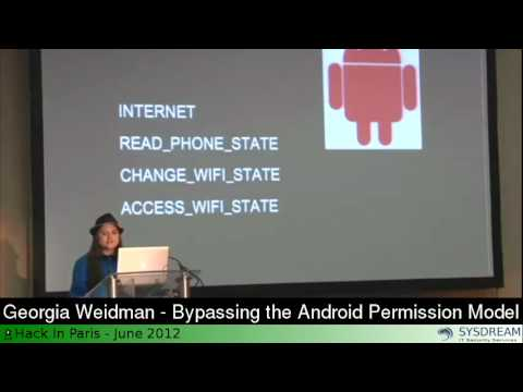 Georgia Weidman Bypassing the Android Permission Model