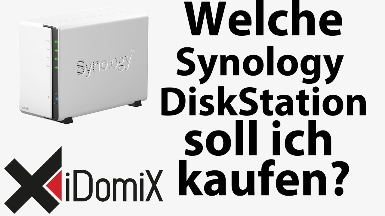 welche synology diskstation soll ich mir kaufen youtube. Black Bedroom Furniture Sets. Home Design Ideas