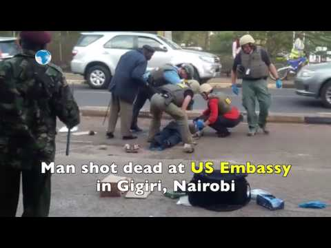 Man shot dead outside US embassy in Nairobi