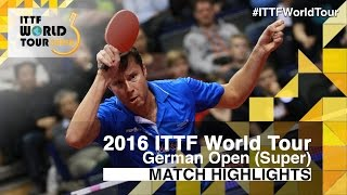 German Open 2016 Highlights: BOLL Timo vs SAMSONOV Vladimir (1/4)(Review all the highlights from the BOLL Timo vs SAMSONOV Vladimir (1/4) from the German Open 2016 Subscribe here for more official Table Tennis ..., 2016-01-30T21:47:46.000Z)